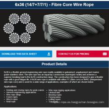 6X36 (14/7 + 7/7/1) - Cuerda de alambre con núcleo de fibra