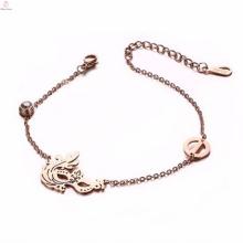 2017 popular custom engraved charms stainless steel bracelet anklet