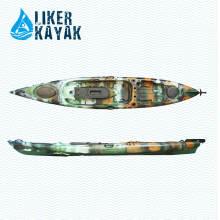 Plastique sans kayak gonflable pour pêche Personne simple avec siège doux personnalisé