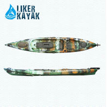 Plastic No Inflatable Kayak for Fishing Single Person with Custom Soft Seat