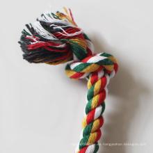 Cuerda de limpieza de dientes de algodón de juguete popular para masticar perros