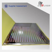 GZ-373 Pillar Pattern Hologramm Shim zum Prägen PET-Folie, 800x 1000mm, nahtlos
