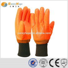 sunnyhope Fluorescent pvc heavy duty rubber gloves