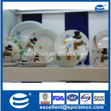 Serie de muñeco de nieve de Navidad porcelana casa decoración vajilla