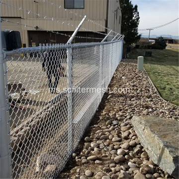 PVC / Galvanized Link Mesh Mesh As Building Pagar