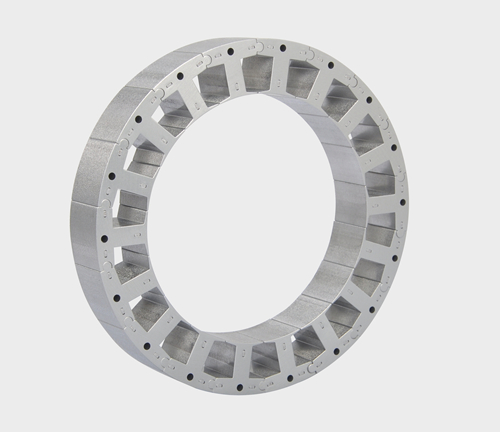 Spliced stator core stamping