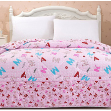 Printed Solid Colors Bed Quilt Cheap Quilt F1851