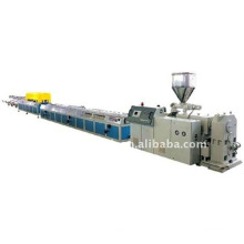 Plastic window and door profile extrusion line