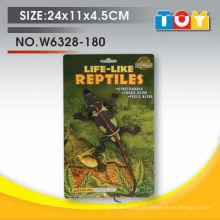 Projeto de modelo de crocodilo de conjunto de animal de plástico macio com todos os relatórios de teste