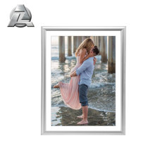 Flexible silver aluminum metal picture frame a4 size