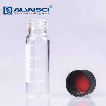 Flasque de verre transparent 13-425 Filtre autocollant 4ml avec étiquette