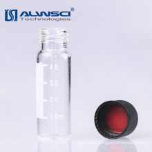 13-425 clear glass screw thread 4ml autosampler Vial with label