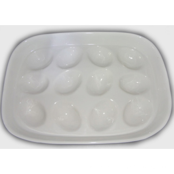 Keramik Weiß Ei Tray Holder-Hold 12 Tray