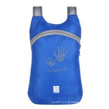 Faltbare leichte wasserdichte Nylon Rucksack Tasche (YKY7298)