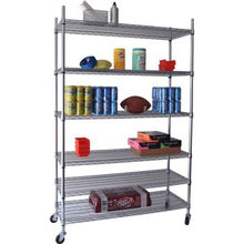 DIY Heavy Duty Chrome Einstellbare Buch Display Wire Shelf (CJ12045180A6W)