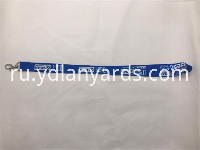 Blue color lanyards with your own logo