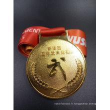 Médaille de sport de natation en métal personnalisée avec ruban (XY-MEDAL06)