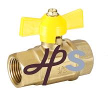válvula de bola de gas de latón con mango de mariposa, estándar EN331