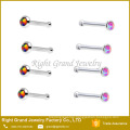 Hight Quality Prong Set Opal Indian Nose Stud Cheap Price Jewellery Nose Pin