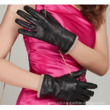 New Arrival Winter Classic Lady Fashion Sheepskin Leather Glove