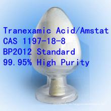 Bp Tranexamic ácido de alta pureza Amstat CAS 1197-18-8 Raw Pharma API