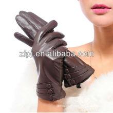 Mode Schaffell Leder Handschuhe mit Nähmaschine