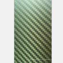 Vente chaude 2.5mm épaisseur jaune Kevlar chiffons 400x500mm feuilles de fibre de carbone