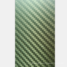 Folhas matte de Kevlar do amarelo da fibra do carbono da sarja real do elevado desempenho para a indústria de automóvel