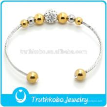 Bracelet magnétique japonais bio personnalisé bracelet magnétique manchette bracelet en acier inoxydable