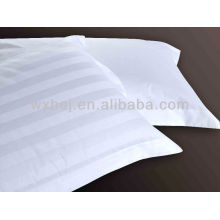 HOT SALE WHITE STRIPED OXFORD STYLE COTTON POLYESTER PILLOWCASE