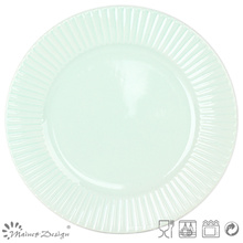 "10.5"" Green Ceramic Dinner Plate Manufacture"