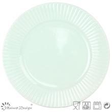 Fabrication de plaques à dîner en céramique verte de 10,5 po