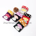 Very Cute Girl Cotton Socks with Popular Mushroom Patterns Packed in Clear Box