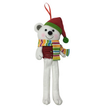 Christmas white bear shape hanging wall sign