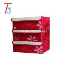Dust-Proof Drawer Dividers Closet Organizers Underpants Scarf Towels Bra Underwear Storage Boxes with cover 3 Set