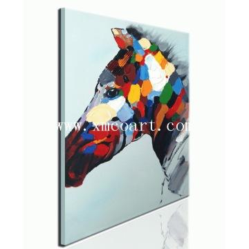 Peinture à l'huile à cheval moderne à chaud