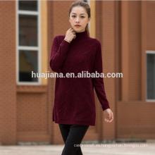 suéter de neps fabuloso tejido de cachemira