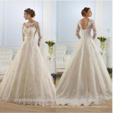 Vestidos de Noiva Vestidos de novia Casamento Mariage Boda vestidos de boda de encaje largo mangas de encaje MW2192