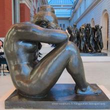 Parc à thème sculpture métal jardin femme nue bronze art statue