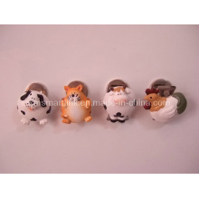 Poly Resin Animal Decoration Magnetic Clip