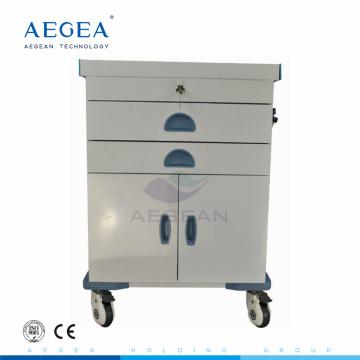 AG-ET017 Hospital patient treatment powder coating steel clinic emergency medical storage trolleys