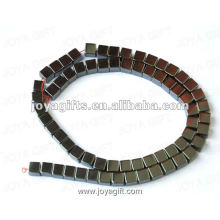 """6MM Loose Magnetic Hematite Square Beads 16"""""""