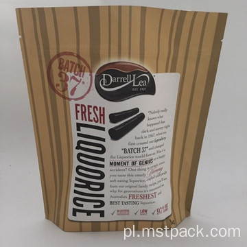 Kraft Paper Stand Up Foliowa torba do pakowania