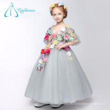 Hecho a mano flores vestido de bola linda niña vestidos de niña