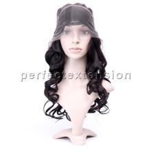 color marrón claro 100 sin pegamento peluca llena del cordón pelucas del cabello humano del precio de fábrica