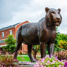 Gartendekoration hochwertige Bronze lebensgroße Tiger Skulpturen