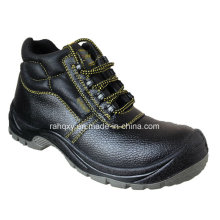 Split Embossed Leather Safety Shoes with Mesh Lining (HQ05055)