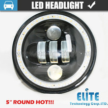 "HOT!!! 4"" 4.5"" lights with ring led headlight motorcycle hi low round off road led lights"