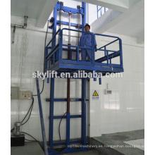 Elevador de carril de guía hidráulico estacionario eléctrico para la tienda
