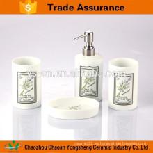 Cuarto de baño clásico y elegante de la porcelana con el diseño de la flor